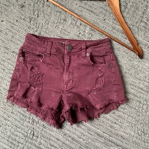 AMERICAN EAGLE stretch distressed short size 00